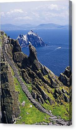 Stone Stairway, Skellig Michael Canvas Print by Gareth McCormack