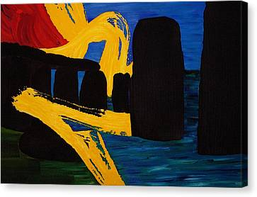 Stonehenge Abstract Evolution1 Canvas Print by Gregory Allen Page