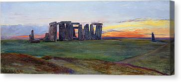 Stonehenge Canvas Print by John William Inchbold