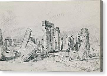 Stonehenge Wiltshire Canvas Print by John Constable