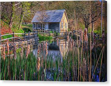 Stony Brook Grist Mill Canvas Print by Rick Berk