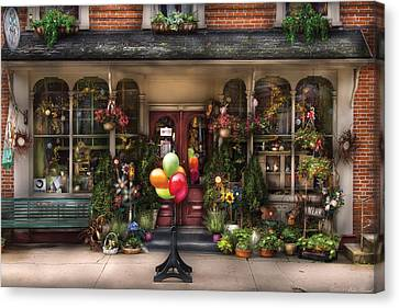 Store - Strasburg Pa - Petals And Beans Canvas Print by Mike Savad