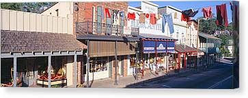 Store Fronts, Angels Camp, California Canvas Print by Panoramic Images