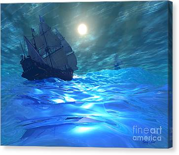Storm Brewing Canvas Print by Corey Ford