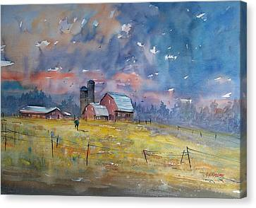 Storm Brewing Canvas Print by Ryan Radke
