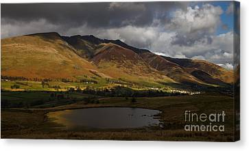 Storm Clouds Over Blencathra Canvas Print by John Collier