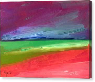 Storm Coming Over Lanikai Canvas Print by Angela Treat Lyon