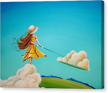 Storm Development Canvas Print by Cindy Thornton