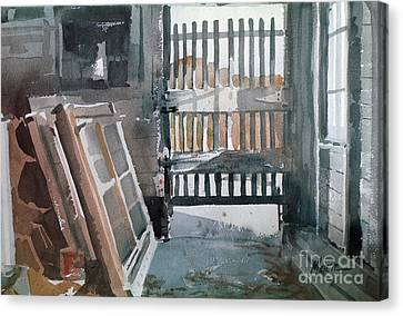 Storm Doors Canvas Print by Donald Maier