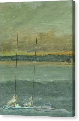 Storm On The Horizon-detail Canvas Print by Perry Ashe