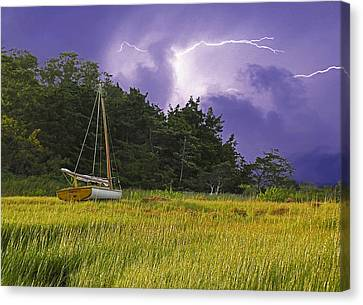 Storm Over Knott's Island Canvas Print by Charles Harden
