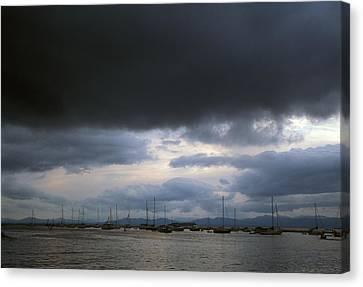 Storm Over Lake Champlain Canvas Print by John Burk