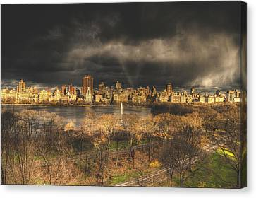 Storm Over The Park Canvas Print by Ariane Moshayedi