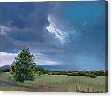 Storm Warning Yell County Arkansas Canvas Print by Cathy France