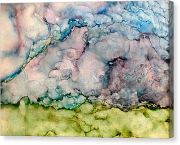 Storms Brewing Canvas Print by Marie Haley-Twaddle