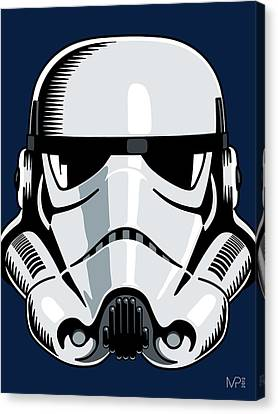 Star Canvas Print featuring the digital art Stormtrooper by IKONOGRAPHI Art and Design