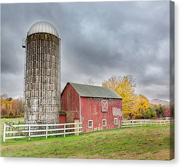 Stormy Autumn Skies Canvas Print by Bill Wakeley