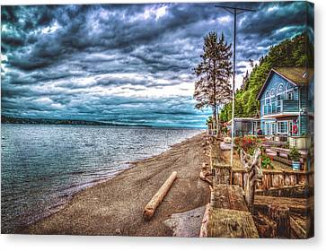Stormy Beach Canvas Print by Spencer McDonald