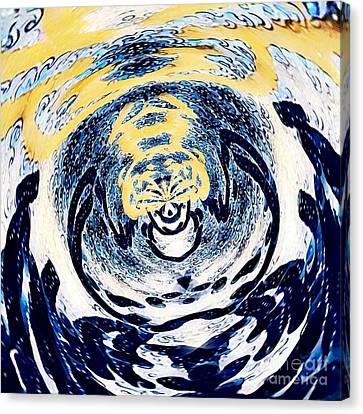 Stormy Lady Canvas Print by Marie Ward-Alonge