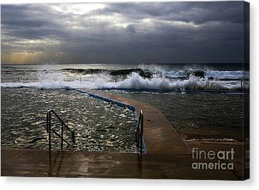 Stormy Morning At Collaroy Canvas Print by Avalon Fine Art Photography