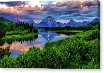 Stormy Morning In Jackson Hole Canvas Print by Jeff R Clow