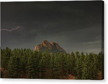 Stormy Mountain Canvas Print by Brian Gustafson