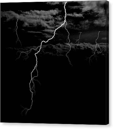 Stormy Night Canvas Print by Brad Scott