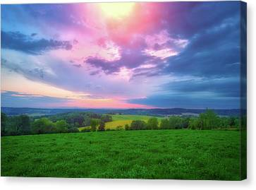 Stormy Sunset At Retzer Nature Center Canvas Print by Jennifer Rondinelli Reilly