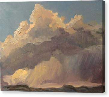 Stormy Sunset Canvas Print by Jo Anne Neely Gomez