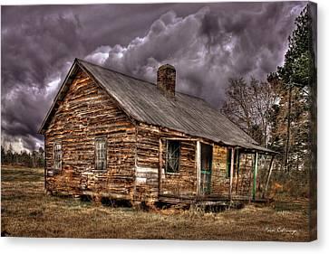 Stormy Times Greene County Georgia Canvas Print by Reid Callaway