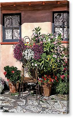Storybook Cottage Carmel Canvas Print by David Lloyd Glover