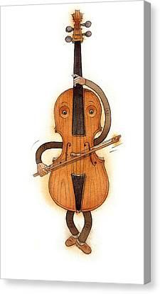 Stradivarius Violin Canvas Print by Kestutis Kasparavicius