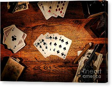 Straight Flush Canvas Print by Olivier Le Queinec