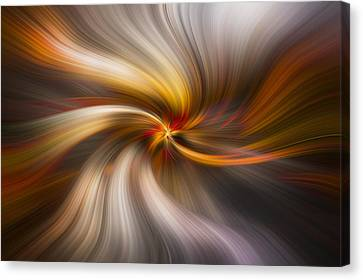 Strands Of Light Canvas Print by Debra and Dave Vanderlaan