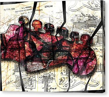 Strat Abstracta No. 6c  Canvas Print by Gary Bodnar