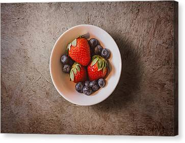 Strawberries And Blueberries Canvas Print by Scott Norris
