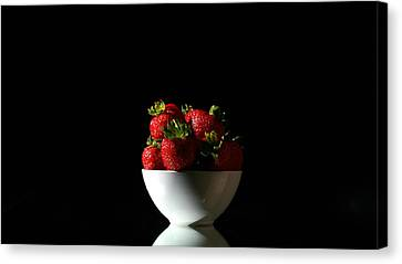 Strawberries Still Life Canvas Print by Michael Ledray