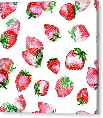 Strawberries Canvas Print by Varpu Kronholm