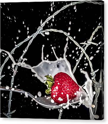 Strawberry Extreme Sports Canvas Print by TC Morgan
