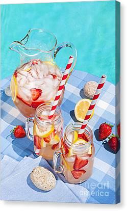 Strawberry Lemonade Canvas Print by Elena Elisseeva