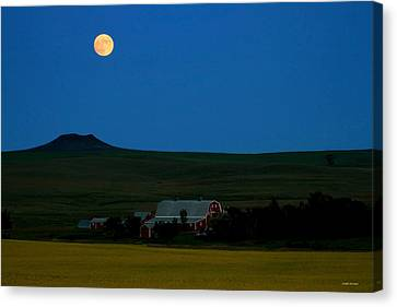 Strawberry Moon Canvas Print by Joseph Noonan