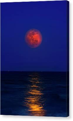 Strawberry Moon Canvas Print by Mark Andrew Thomas