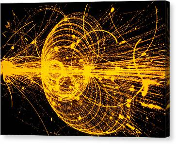 Streamer Chamber Photo Of Particle Tracks Canvas Print by Cern