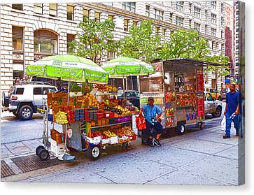 Street Food  4 Canvas Print by Lanjee Chee