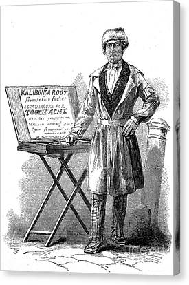 Street Herbalist Selling Quack Cure Canvas Print by Wellcome Images