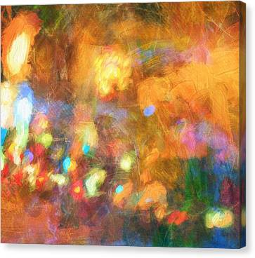 Street Lights Abstract Canvas Print by Dan Sproul