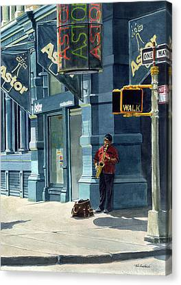 Street Musician Canvas Print by Tom Hedderich