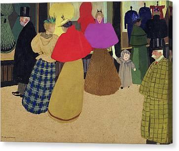 Street Scene Canvas Print by Felix Edouard Vallotton