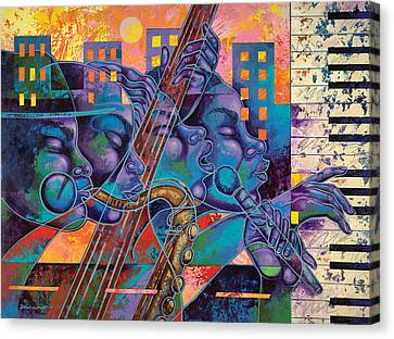 Street Songs Canvas Print by Larry Poncho Brown