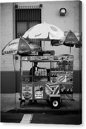 Street Vendor Canvas Print by Darren Martin